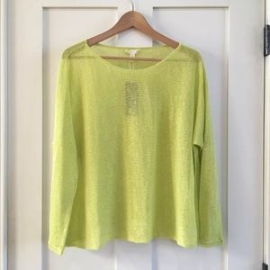[Eileen Fisher] pullover sweater honey dew Linen
